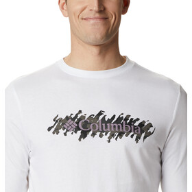 Columbia Columbia Lodge Camiseta Manga Larga Hombre, blanco